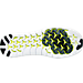 Bottom view of Women's Nike Free RN Motion Flyknit Running Shoes in Black/White/Volt/Grey