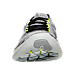 Front view of Women's Nike Free RN Motion Flyknit Running Shoes in White/Black/Volt