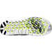 Bottom view of Women's Nike Free RN Motion Flyknit Running Shoes in White/Black/Volt