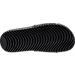 Bottom view of Men's Nike Kawa Adjustable Slide Sandal in Black/White