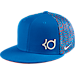 Front view of Kids' Nike S+ KD True Hat in Photo Blue