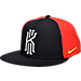 Front view of Kids' Nike S+ Kyrie True Hat in Black/Red