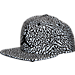 Front view of Jordan Reflective Elephant Print Snapback Hat in Black/Medium Grey