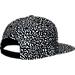Back view of Jordan Reflective Elephant Print Snapback Hat in Black/Medium Grey
