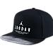 Front view of Jordan Modern Heritage Snapback Hat in Black/White
