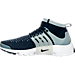Left view of Men's Nike Air Presto Flyknit Ultra Running Shoes in Collegiate Navy/Collegiate Navy