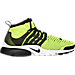 Right view of Men's Nike Air Presto Flyknit Ultra Casual Shoes in Volt/Black/White