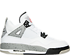Boys Grade School Air Jordan Retro 4 Basketball Shoes