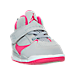 Three Quarter view of Girls' Toddler Jordan Flight 45 High Basketball Shoes in 009