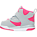 Left view of Girls' Toddler Jordan Flight 45 High Basketball Shoes in 009