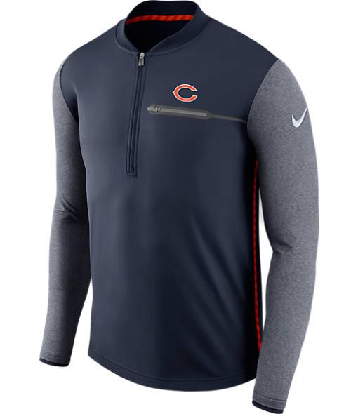 Men's Nike Chicago Bears NFL Coaches Half-Zip Jacket