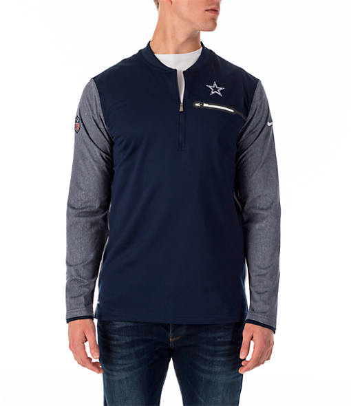 Men's Nike Dallas Cowboys NFL Coaches Half-Zip Jacket