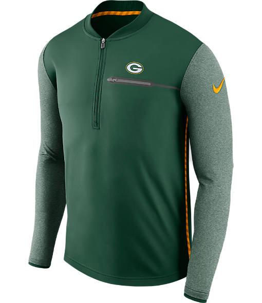 Men's Nike Green Bay Packers NFL Coaches Half-Zip Jacket