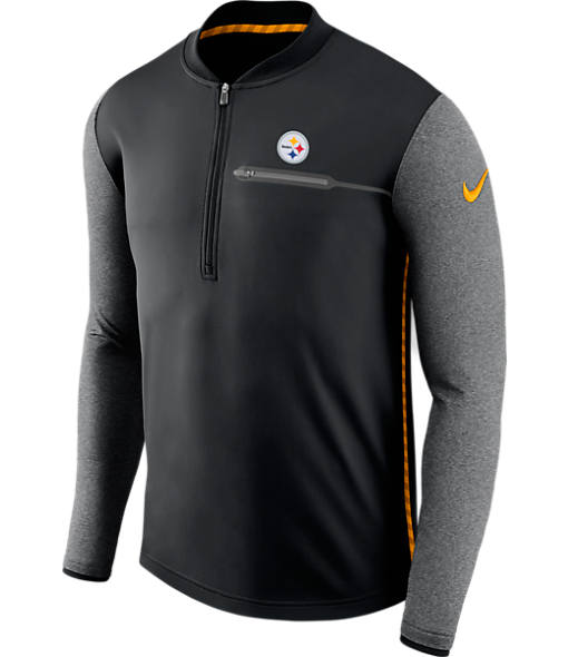Men's Nike Pittsburgh Steelers NFL Coaches Half-Zip Jacket