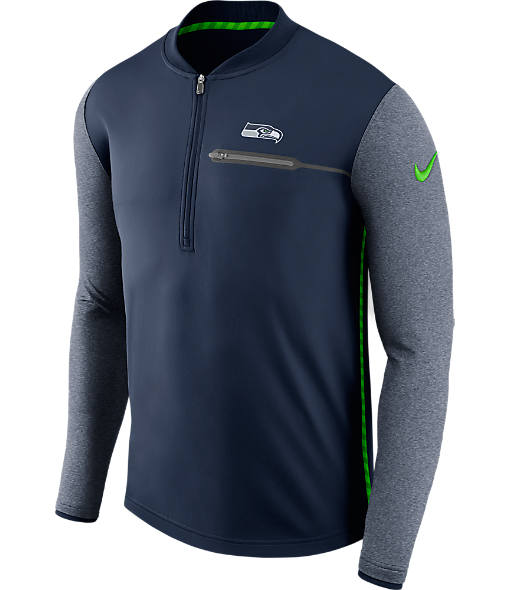 Men's Nike Seattle Seahawks NFL Coaches Half-Zip Jacket