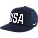 Front view of Kids' Nike USA Trucker Snapback Hat in Obsidian