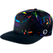 Front view of Nike S+ Basketball Paradise Pro Snapback Hat in Black/Multi