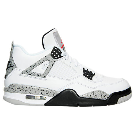 971257ab4 aaa air jordan retro 4 a white black yellow mens shoes for sale