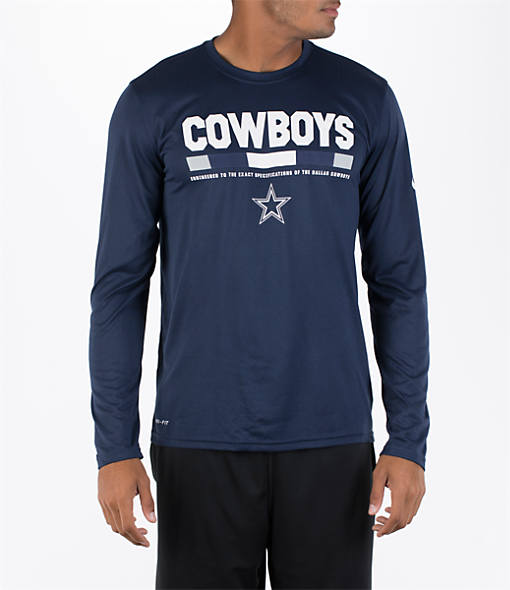 Men's Nike Dallas Cowboys NFL Staff Legend Long-Sleeve T-Shirt
