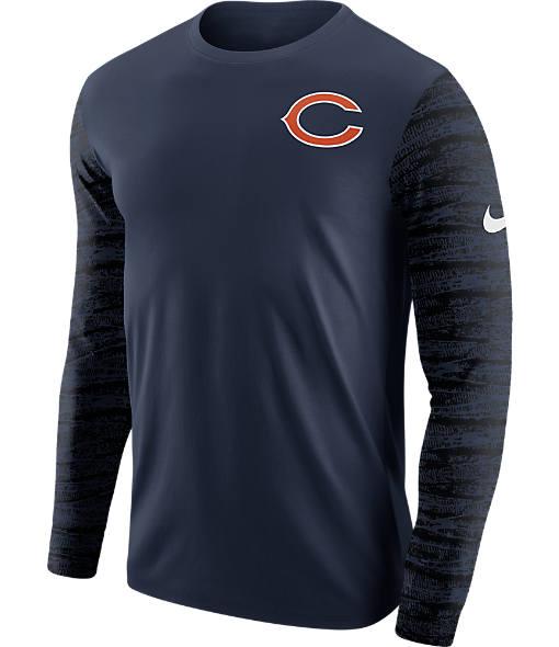 Men's Nike Chicago Bears NFL Enzyme Pattern Long-Sleeve Shirt