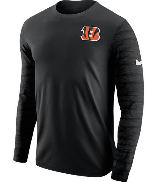 Men's Nike Cincinnati Bengals NFL Enzyme Pattern Long-Sleeve Shirt