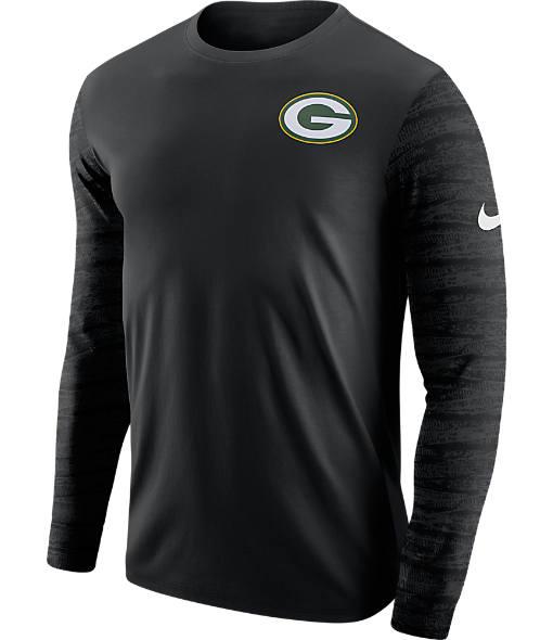 Men's Nike Green Bay Packers NFL Enzyme Pattern Long-Sleeve Shirt