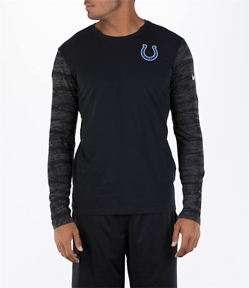 Men's Nike Indianapolis Colts NFL Enzyme Pattern Long-Sleeve Shirt