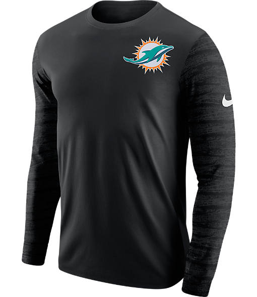Men's Nike Miamim Dolphins NFL Enzyme Pattern Long-Sleeve Shirt