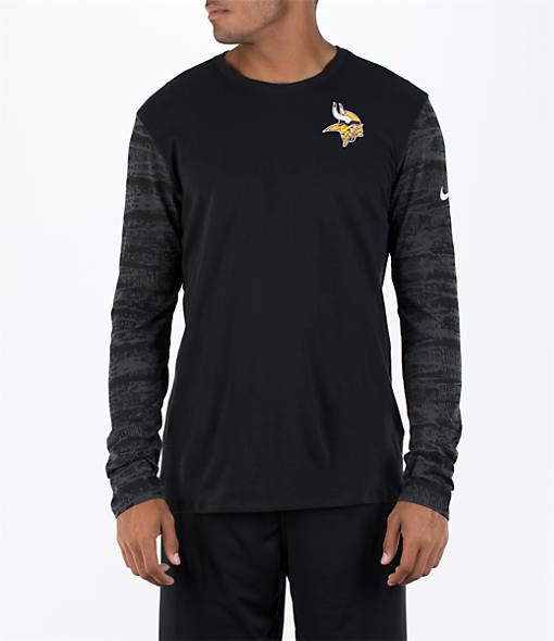 Men's Nike Minnesota Vikings NFL Enzyme Pattern Long-Sleeve Shirt