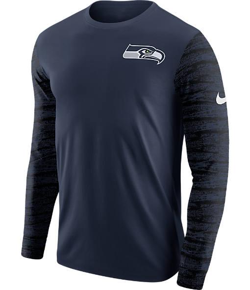 Men's Nike Seattle Seahawks NFL Enzyme Pattern Long-Sleeve Shirt