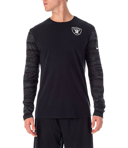 Men's Nike Oakland Raiders NFL Enzyme Pattern Long-Sleeve Shirt