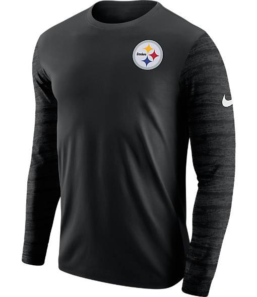 Men's Nike Pittsburgh Steelers NFL Enzyme Pattern Long-Sleeve Shirt