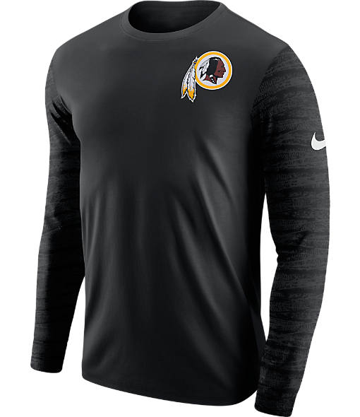 Men's Nike Washington Redskins NFL Enzyme Pattern Long-Sleeve Shirt