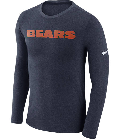 Men's Nike Chicago Bears NFL Long-Sleeve Marled T-Shirt