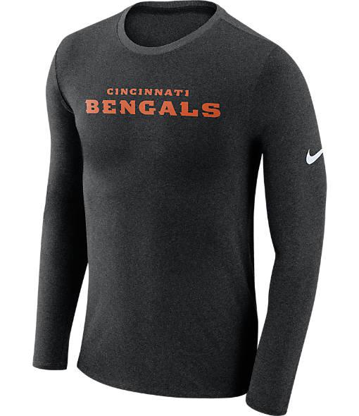 Men's Nike Cincinnati Bengals NFL Long-Sleeve Marled T-Shirt