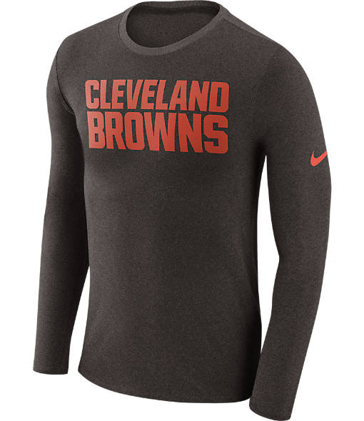 Men's Nike Cleveland Browns NFL Long-Sleeve Marled T-Shirt