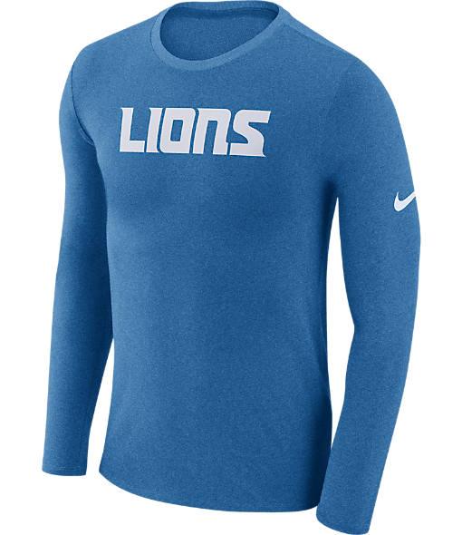 Men's Nike Detroit Lions NFL Long-Sleeve Marled T-Shirt