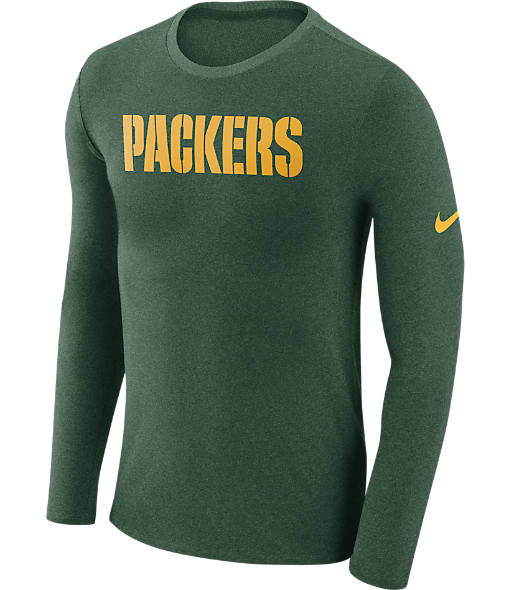 Men's Nike Green Bay Packers NFL Long-Sleeve Marled T-Shirt