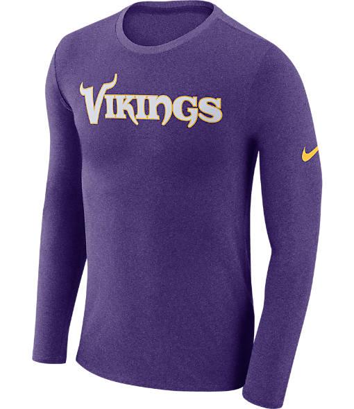 Men's Nike Minnesota Vikings NFL Long-Sleeve Marled T-Shirt