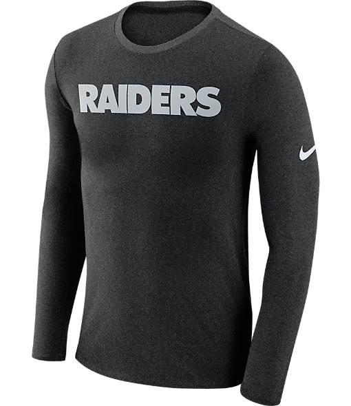 Men's Nike Oakland Raiders NFL Long-Sleeve Marled T-Shirt