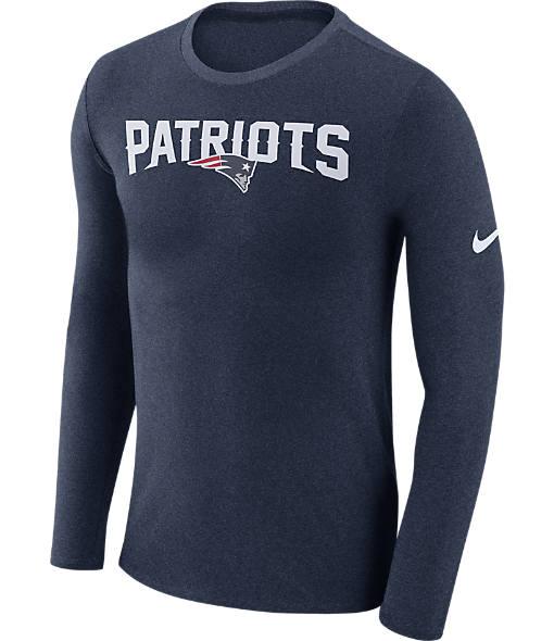 Men's Nike New England Patriots NFL Long-Sleeve Marled T-Shirt