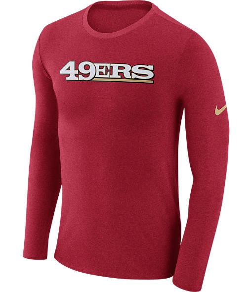 Men's Nike San Francisco 49ers NFL Long-Sleeve Marled T-Shirt
