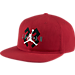 Front view of Air Jordan Retro 6 OG Snapback Hat in Gym Red/White