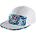Front view of Men's Nike Run AW84 Running Hat in White/Bright Crimson