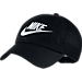 Front view of Women's Nike Sportswear Heritage 86 Adjustable Hat in Black/White