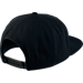 Back view of Air Jordan Retro 11 Low Snapback Hat in Black/Gym Red