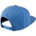 Back view of Air Jordan Retro 11 Low Snapback Hat in University Blue/White