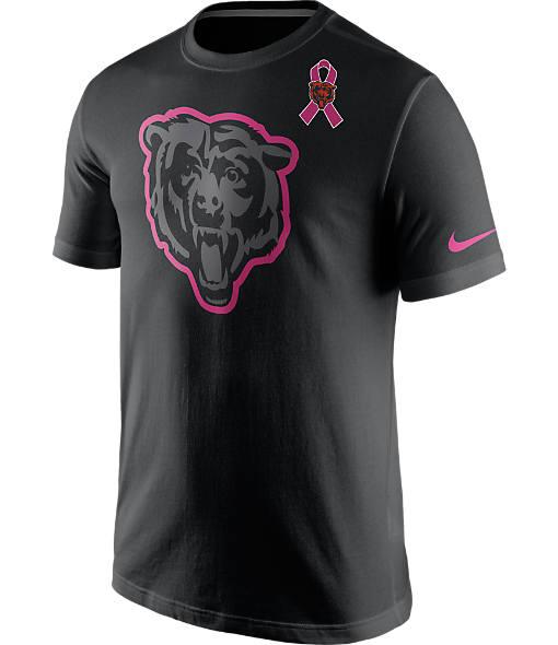 Men's Nike Chicago Bears NFL Breast Cancer Awareness T-Shirt