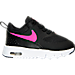 Right view of Girls' Toddler Nike Air Max Thea Running Shoes in Black/Hyper Pink/White