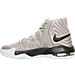 Left view of Men's Nike Air Max Audacity 2016 Basketball Shoes in Light Iron Ore/Black/White